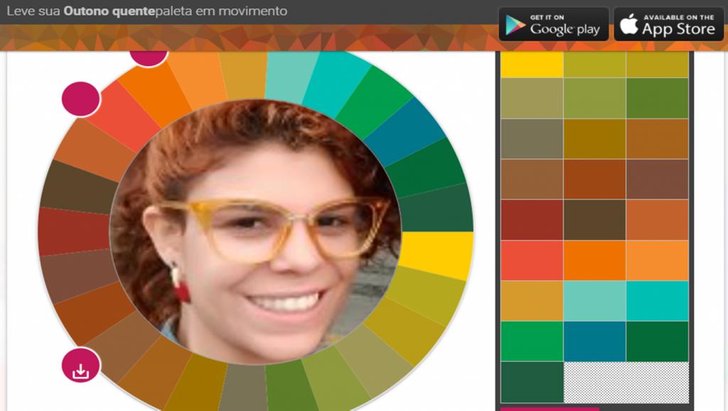 Paleta de coloração pessoal Outono Quente
